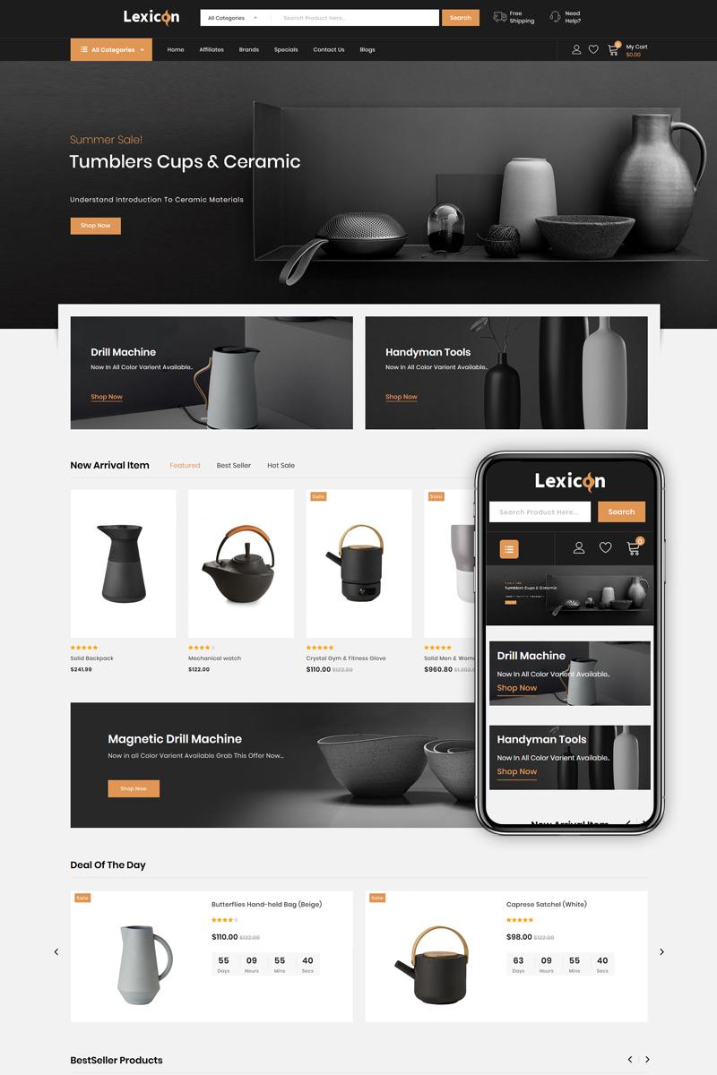 "Plantilla OpenCart ""Lexicon - kitchen Accessories Store"" #86223 - captura de pantalla"