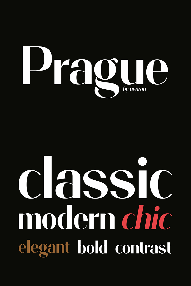 Prague Display Font #86280 - skärmbild