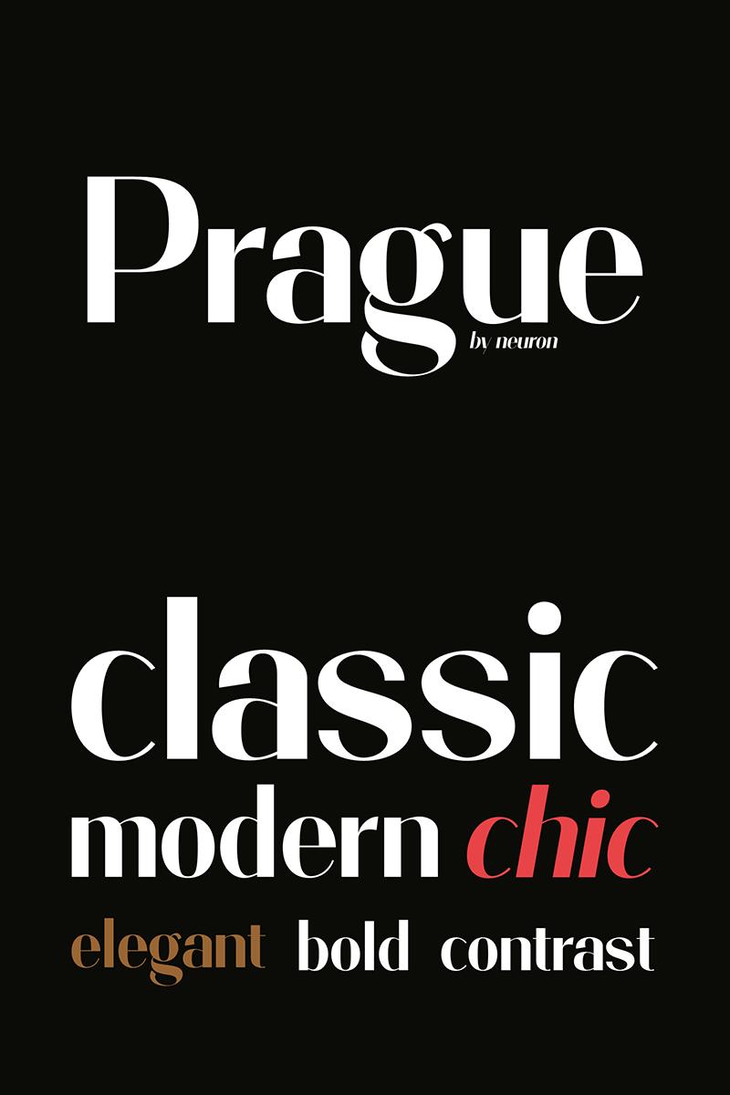 """Prague Display"" Lettertype №86280 - screenshot"