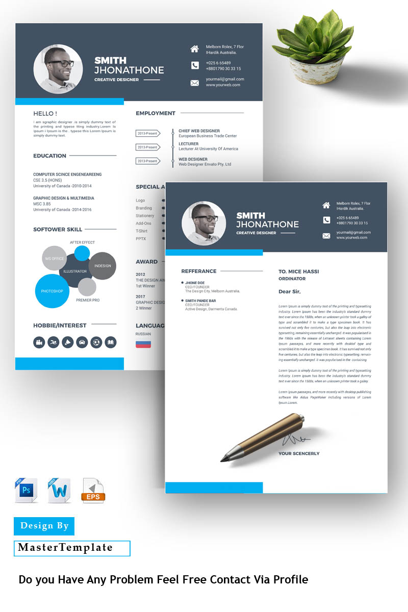 Premium Smith Resume Template #86284 - skärmbild