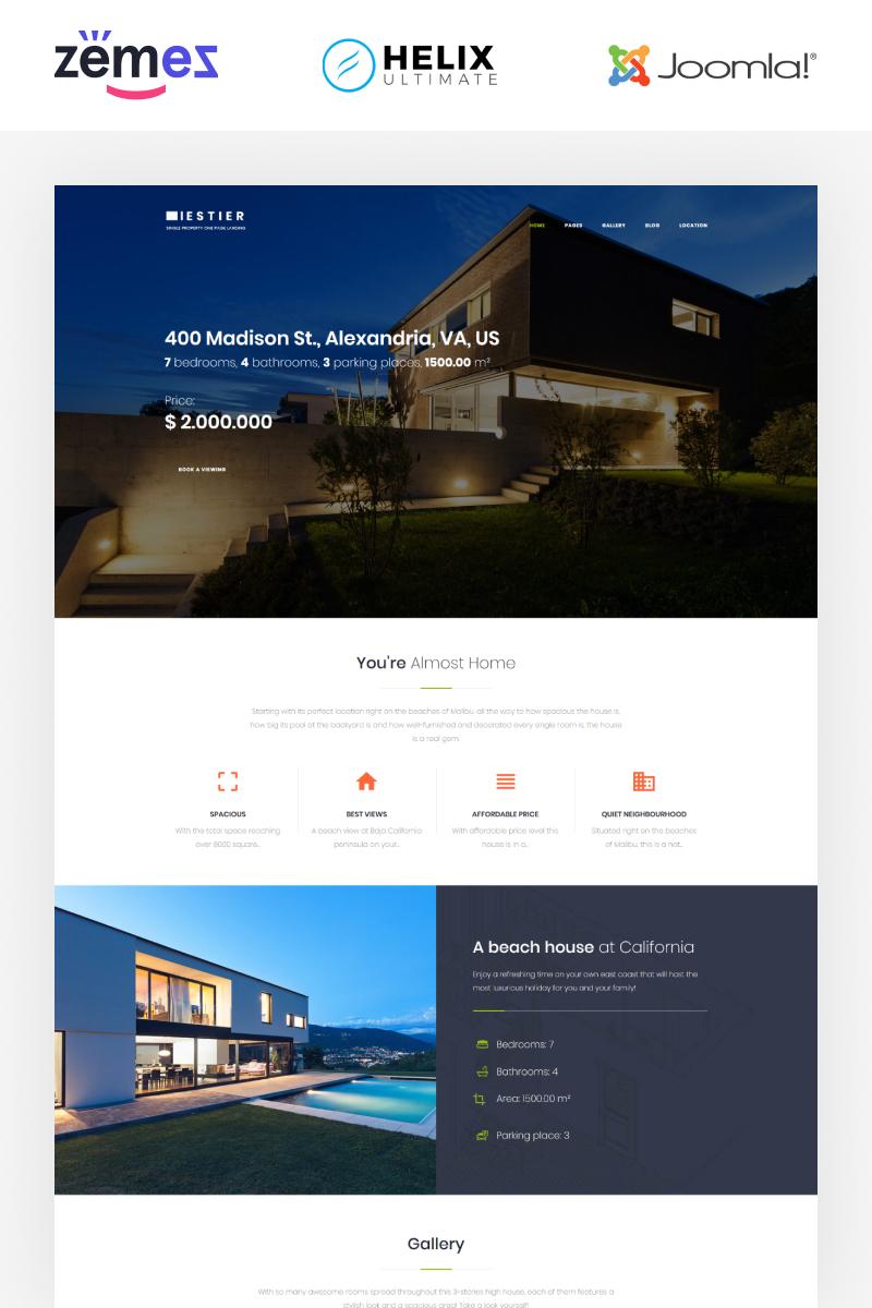"Responzivní Joomla šablona ""Iestier - Real Estate Modern"" #86295 - screenshot"