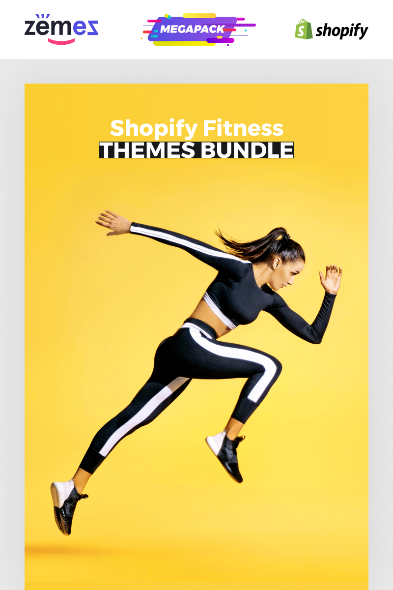 """Shopify Fitness Themes Bundle -"" Shopify模板 #86289"