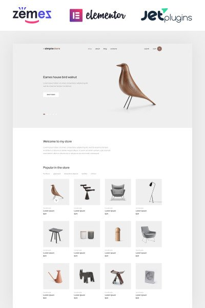 Simplestore - Home Decor Template for Online Shops