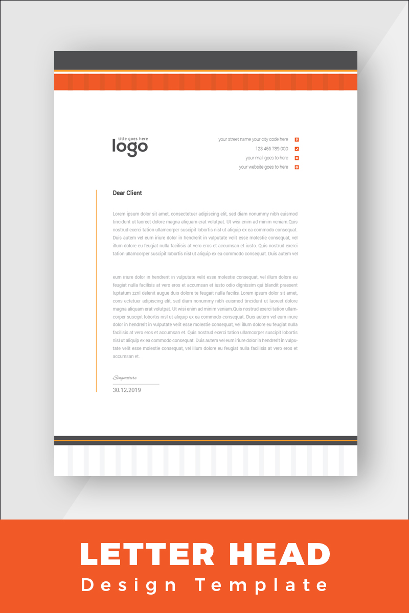 "Tema di Identità Aziendale #86265 ""Minimal Letterhead"" - screenshot"
