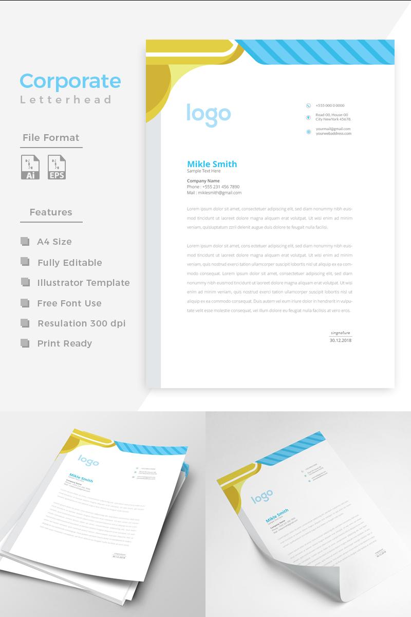 """Template di Identità Aziendale #86269 """"Design Pro Minimal Letterhead y"""" - screenshot"""
