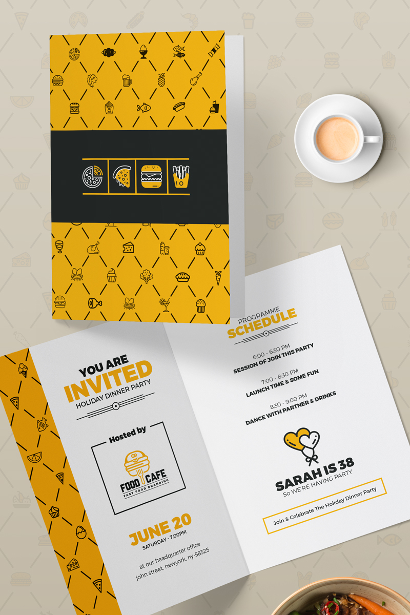 """Template PSD #86290 """"Grand Opening Invitation Card Template"""""""