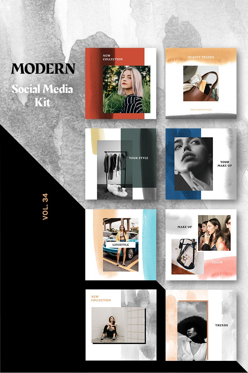 "Template Social Media #86215 ""Instagram Stories Kit (Vol.34)"" - screenshot"