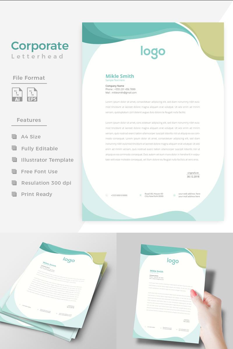 Unique Style Corporate Letterhead Corporate Identity Template - screenshot