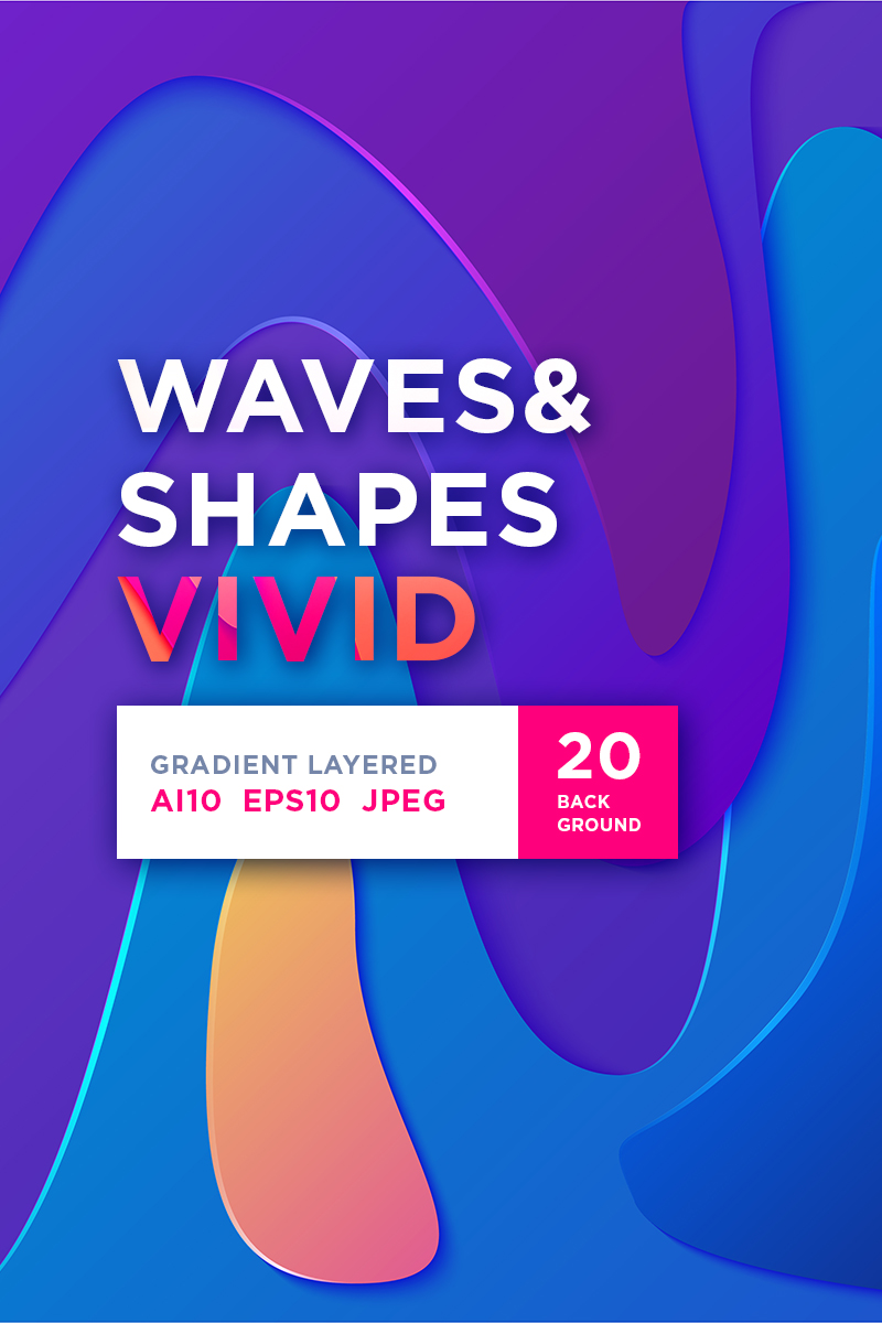 Waves&Shapes Vivid Illustration #86279 - skärmbild