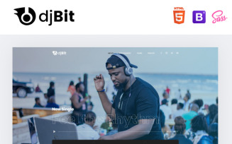 djBeat - Dj Modern HTML Landing Page Template