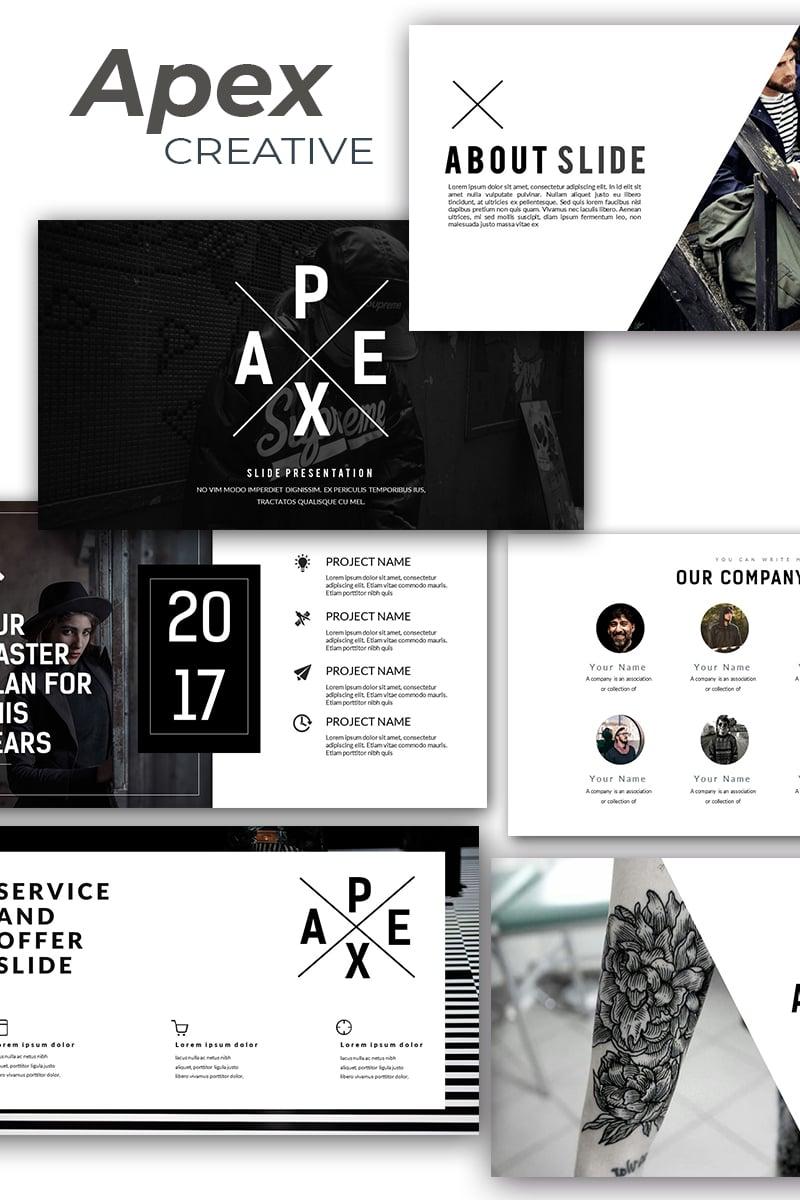 """Apex Creative"" - адаптивний PowerPoint шаблон №86323 - скріншот"