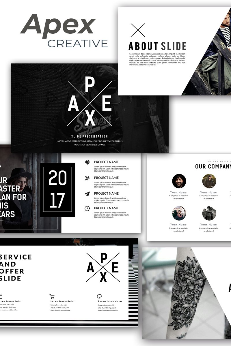 Apex Creative Template PowerPoint №86323 - captura de tela