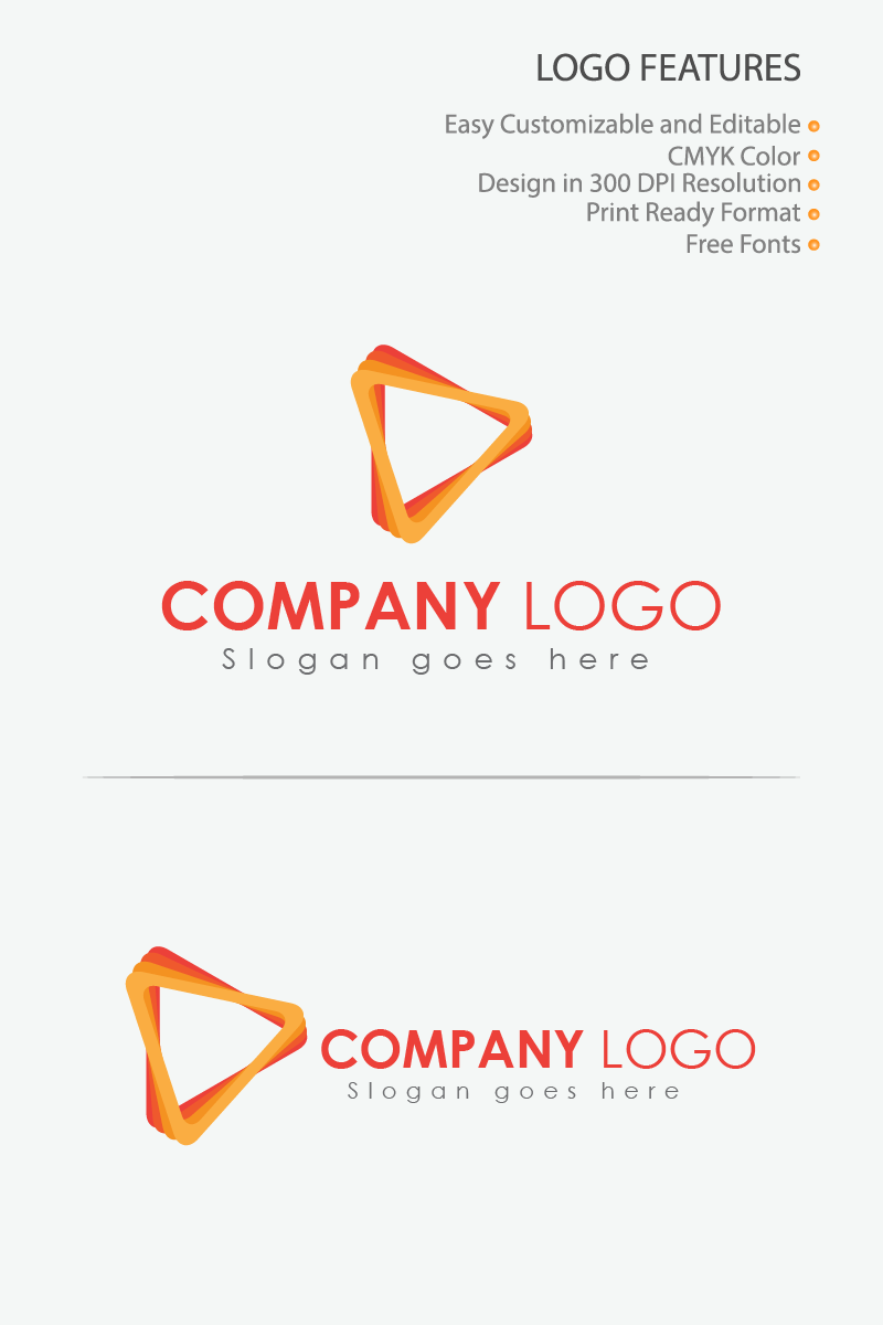 Colorful Music Player Logo Template