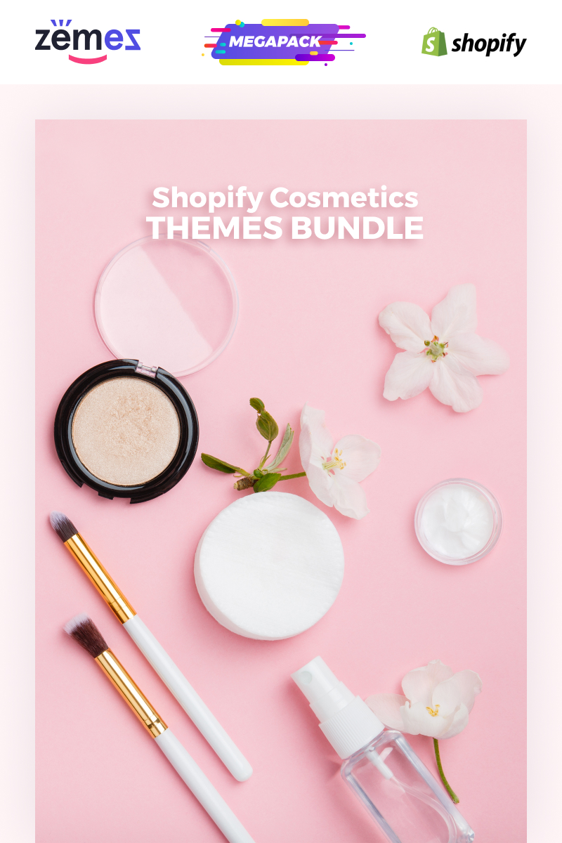 """Cosmetics Themes Bundle -"" Shopify模板 #86387"