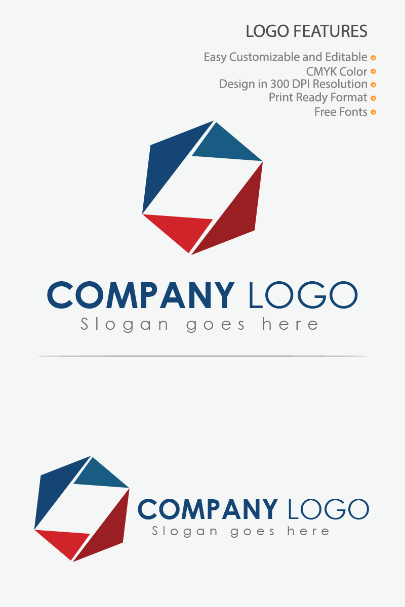 Creative Geometric Icon Logo Template