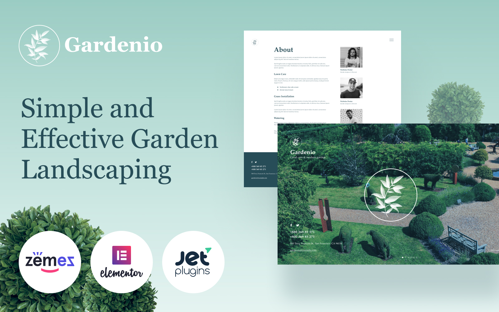 Gardenio - Simple and Effective Garden Landscaping Template for №86363