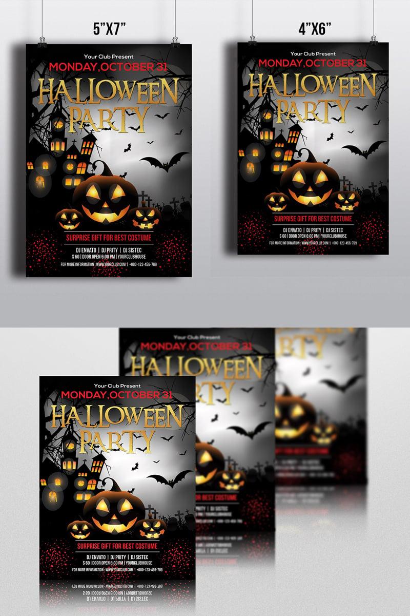 """Halloween Party Flyer"" design d'Entreprise  #86315 - screenshot"