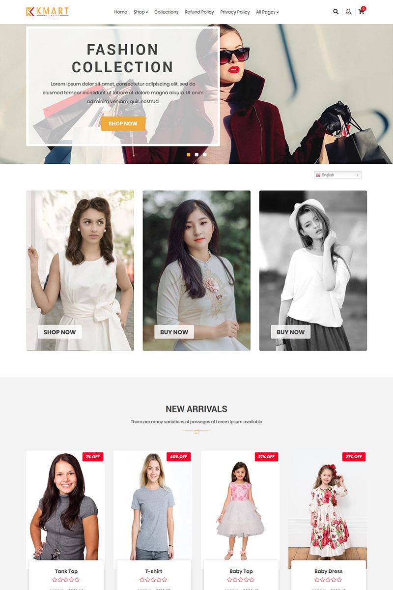 """KMART - Multipurpose Shopify Theme"" Responsive Shopify Thema №86386 - screenshot"