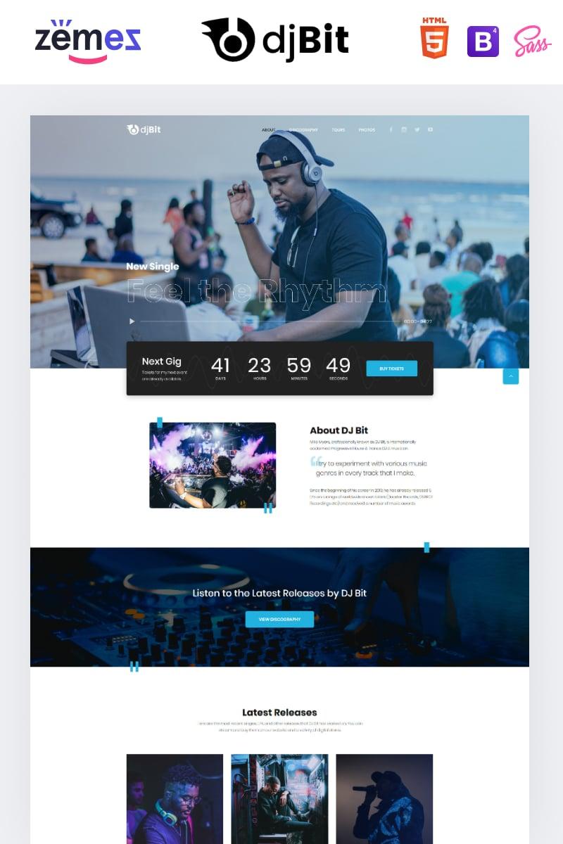 "Landing Page Template namens ""djBeat - Dj Modern HTML"" #86384"