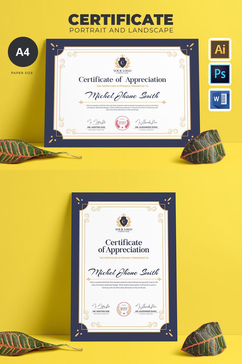 Multipurpose Certificate Template - screenshot