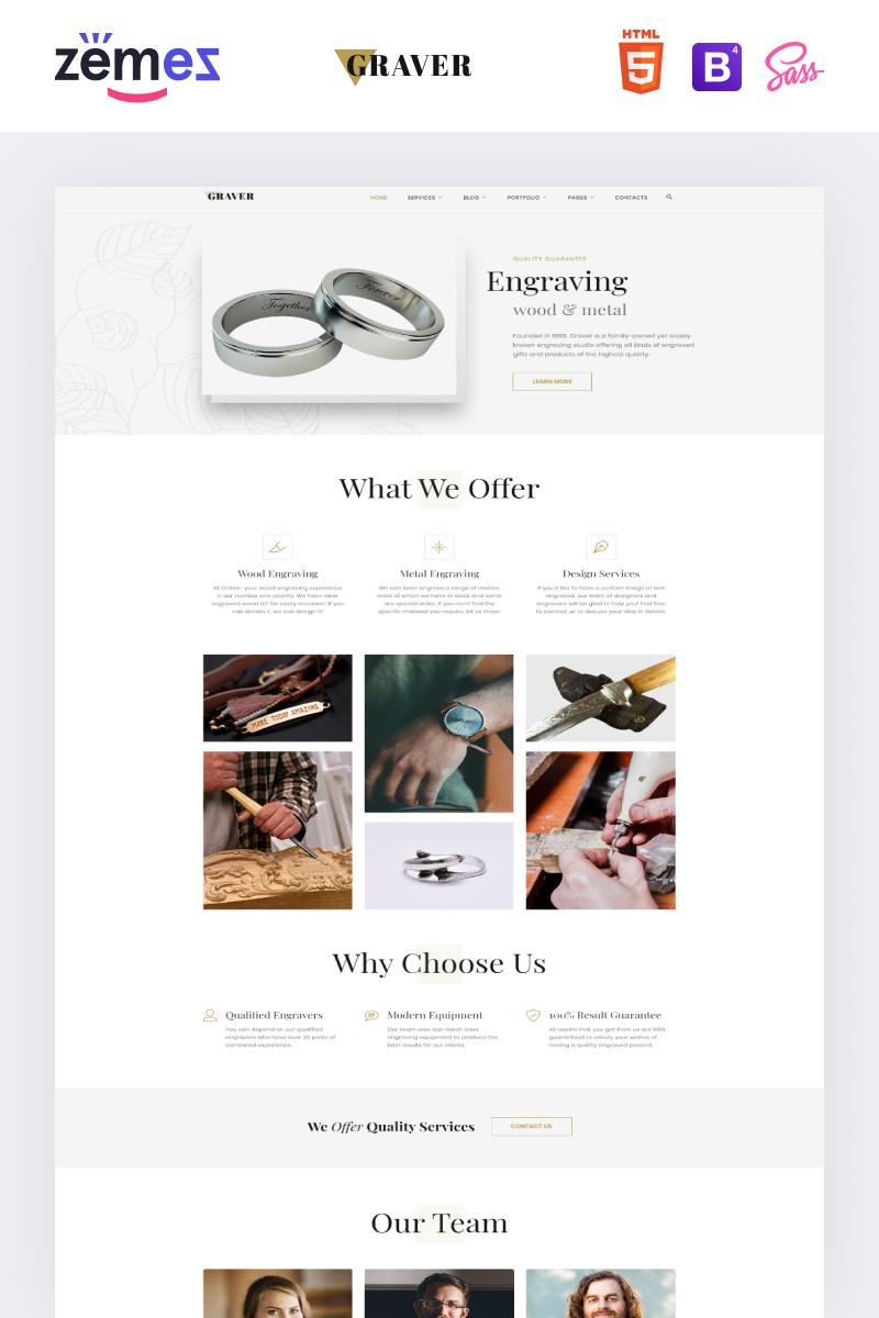 """Plantilla Web """"Graver - Art Multipage Elegant HTML"""" #86385 - captura de pantalla"""