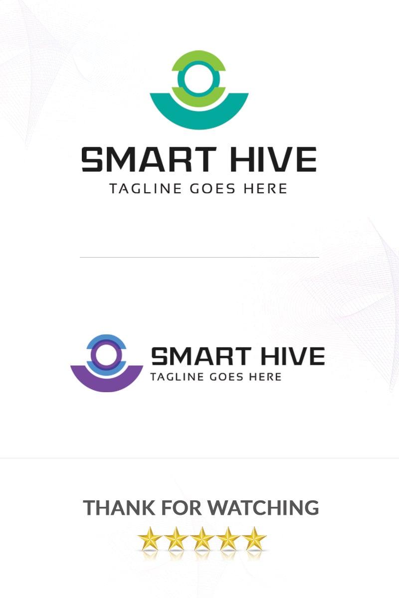 Premium Smart Hive Unika logotyp mall #86310 - skärmbild