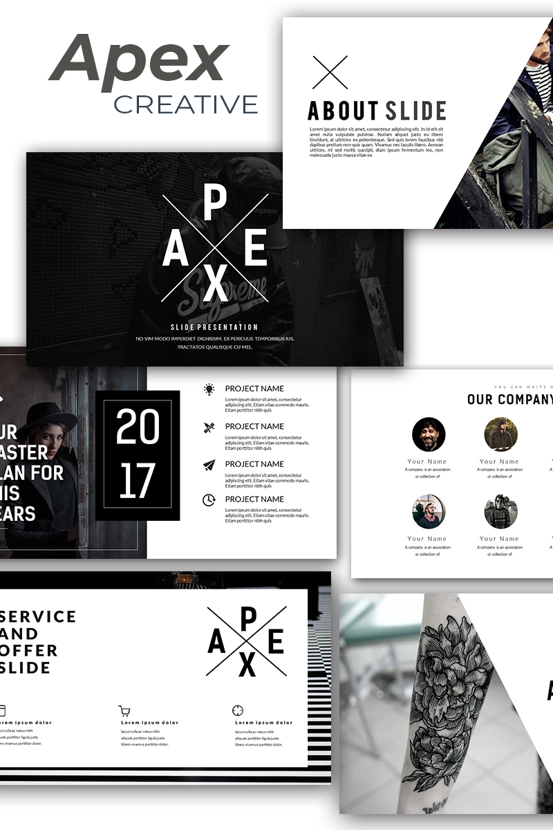 "Responzivní PowerPoint šablona ""Apex Creative"" #86323 - screenshot"