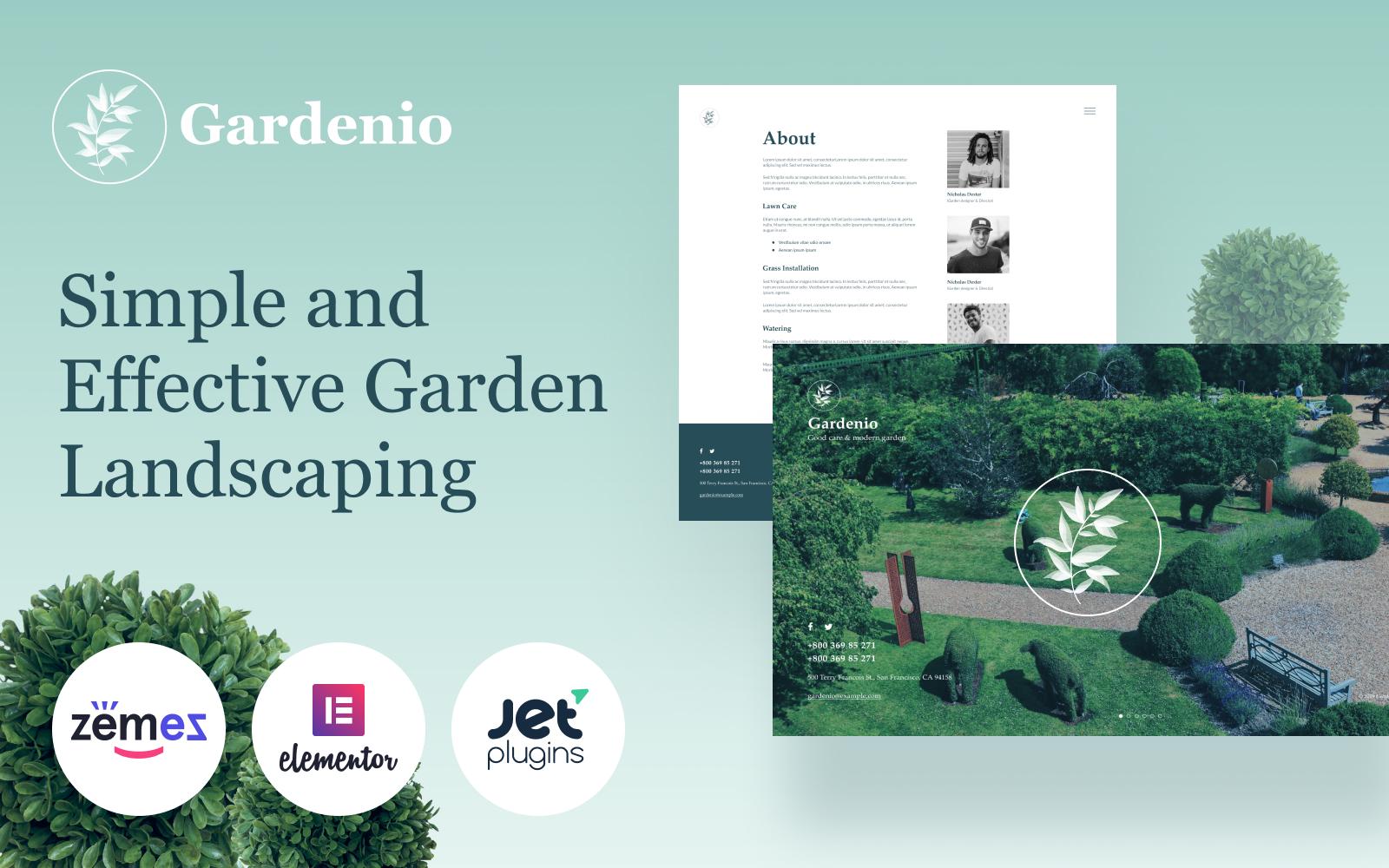 Reszponzív Gardenio - Simple and Effective Garden Landscaping Template for WordPress sablon 86363
