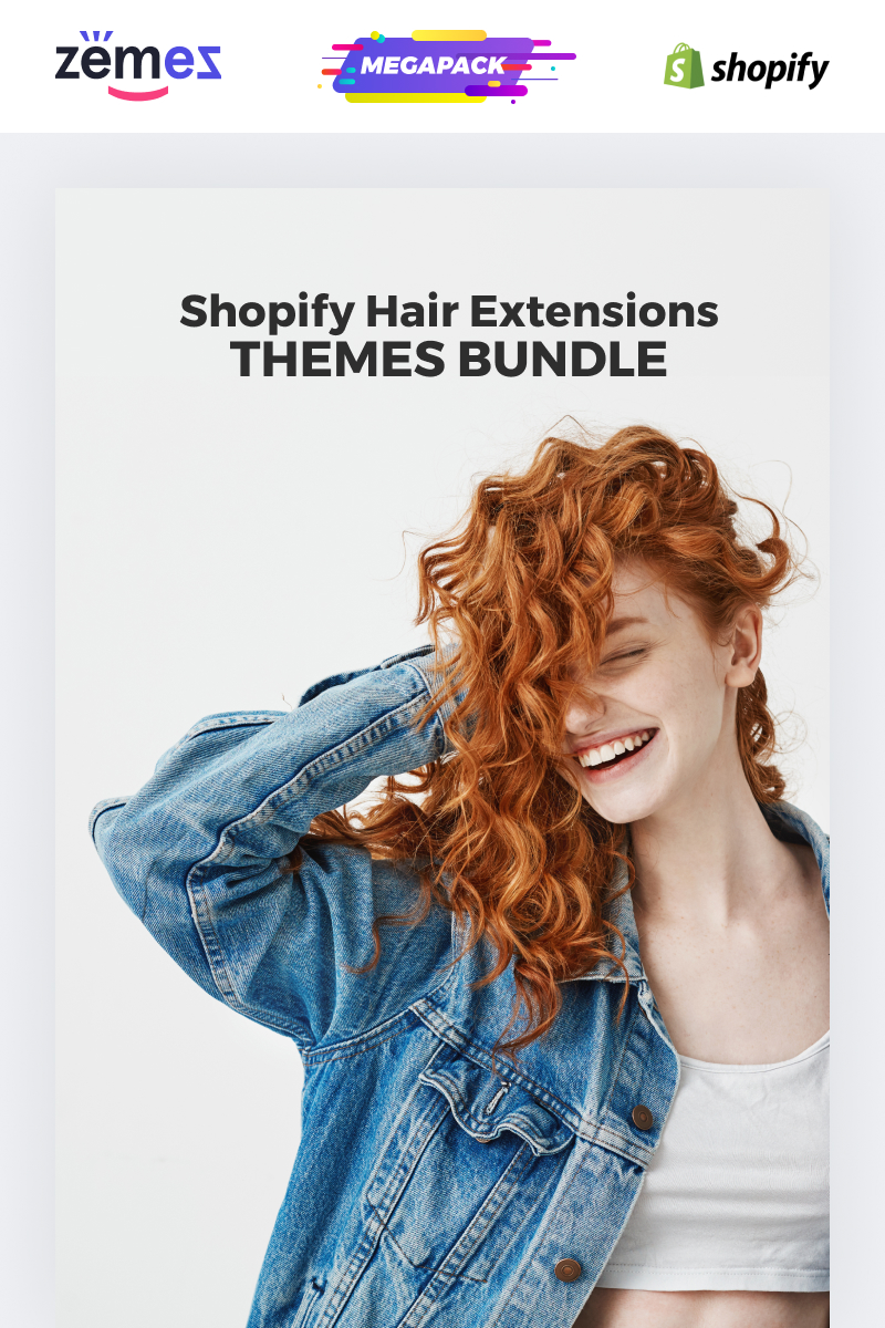 """Shopify Hair Extensions Themes -"" 响应式Shopify模板 #86342 - 截图"