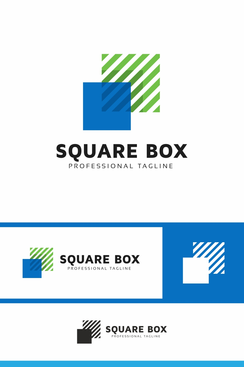"""Square Box Invest"" modèle logo  #86311 - screenshot"