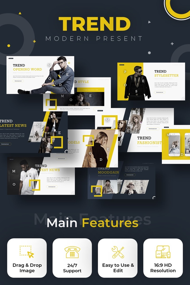 Trend Modern PowerPoint Template - screenshot