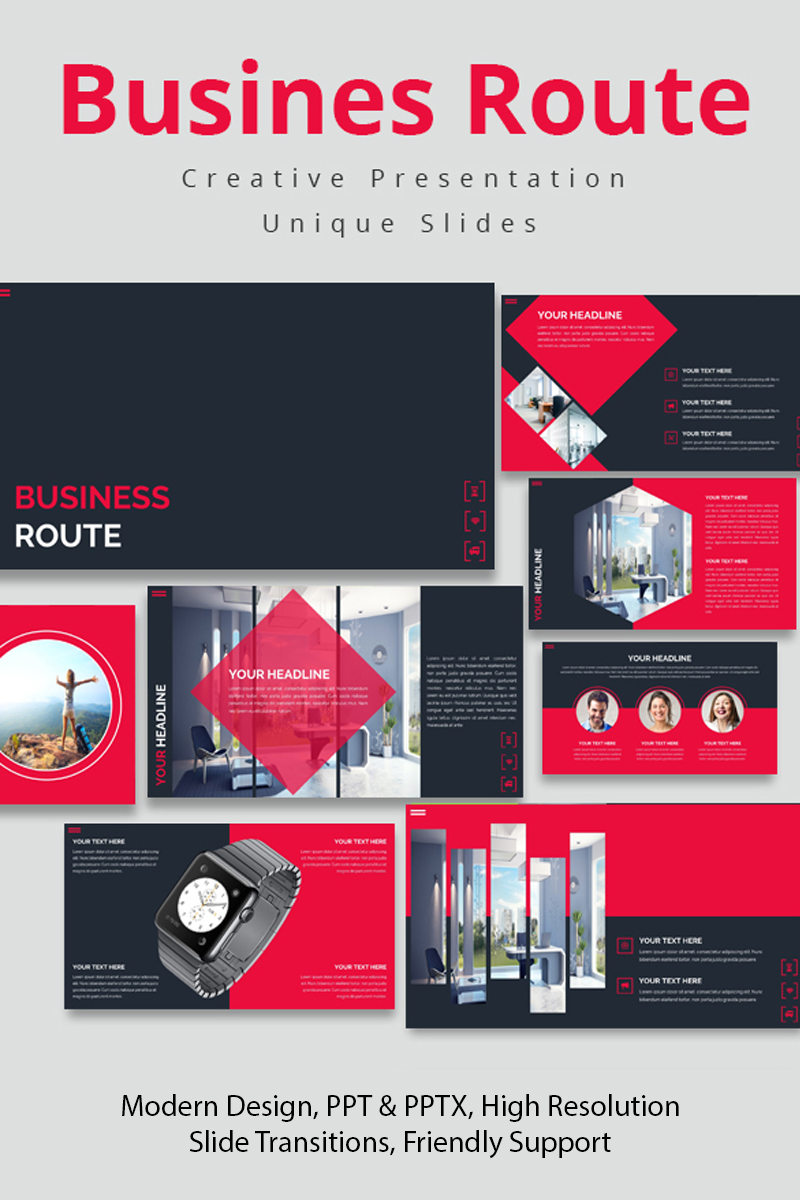 Business Route Google Slides #86476