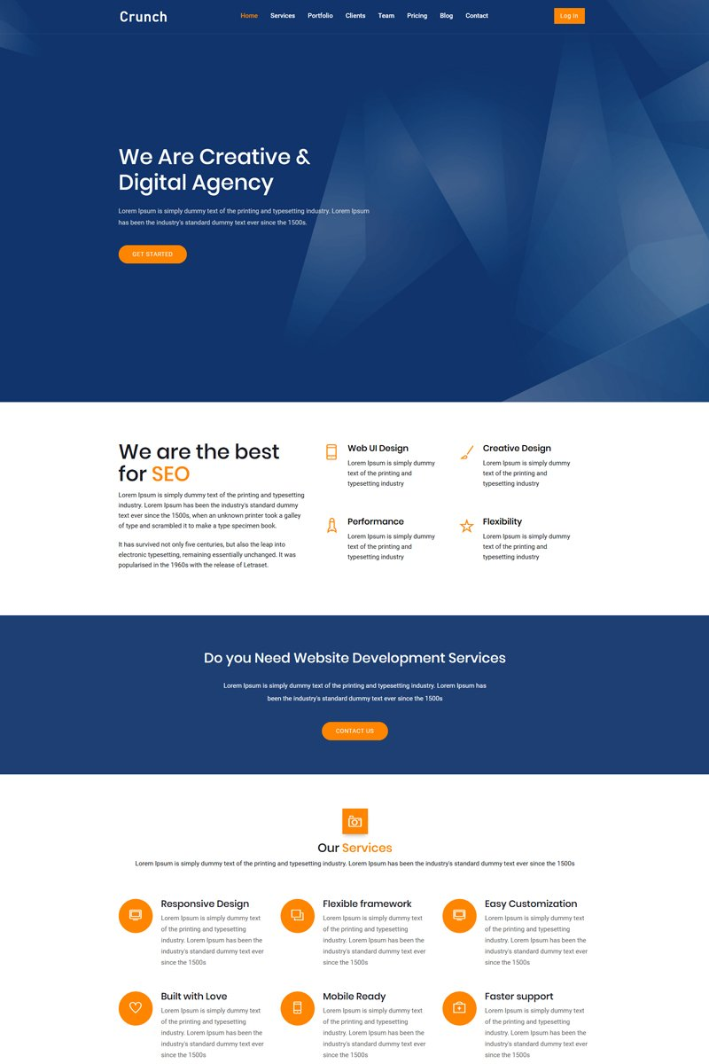 Crunch Landing Page Template