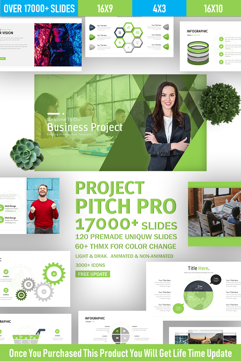 [PPTX] Project Pitch Pro Multi-Purpose PowerPoint Template