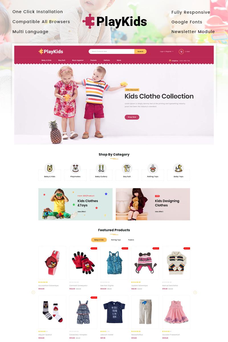 Responsive Playkids - Kids Store Opencart #86400