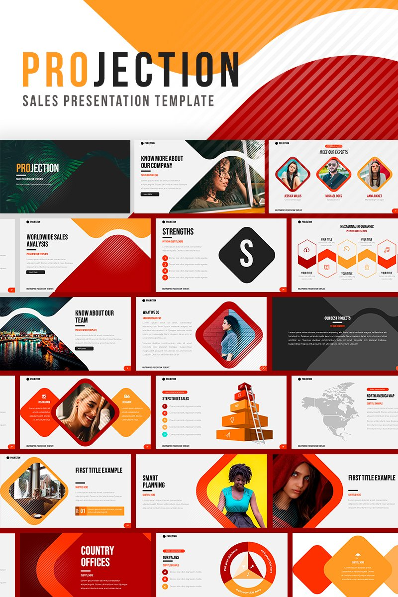 Sale Projection PowerPoint Template