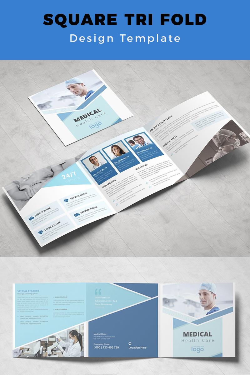 Hasvo Medical Health Care Square Trifold Corporate Identity Template