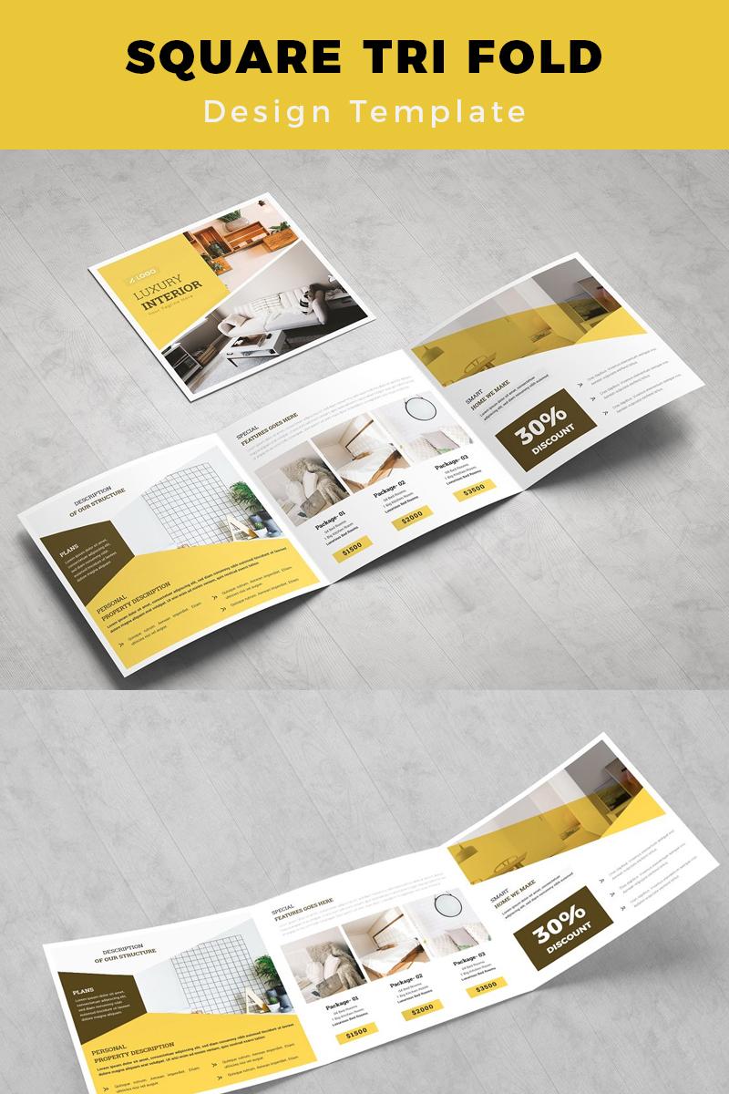 Junsele Real Estate Square Trifold Brochure Corporate Identity Template