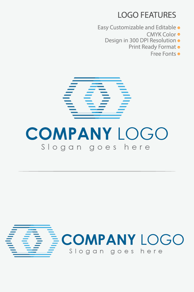 Line Graphics IT Company Logo Template