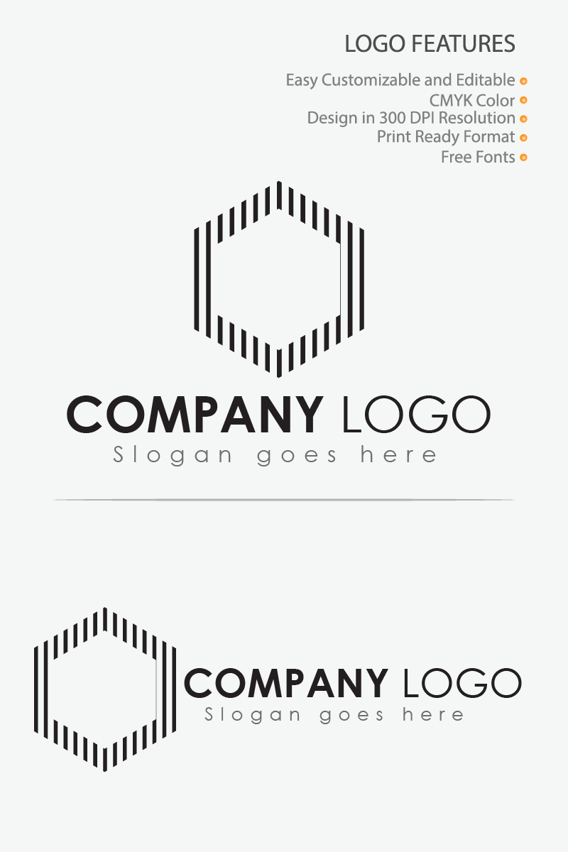 Line Icon IT Company Logo Template