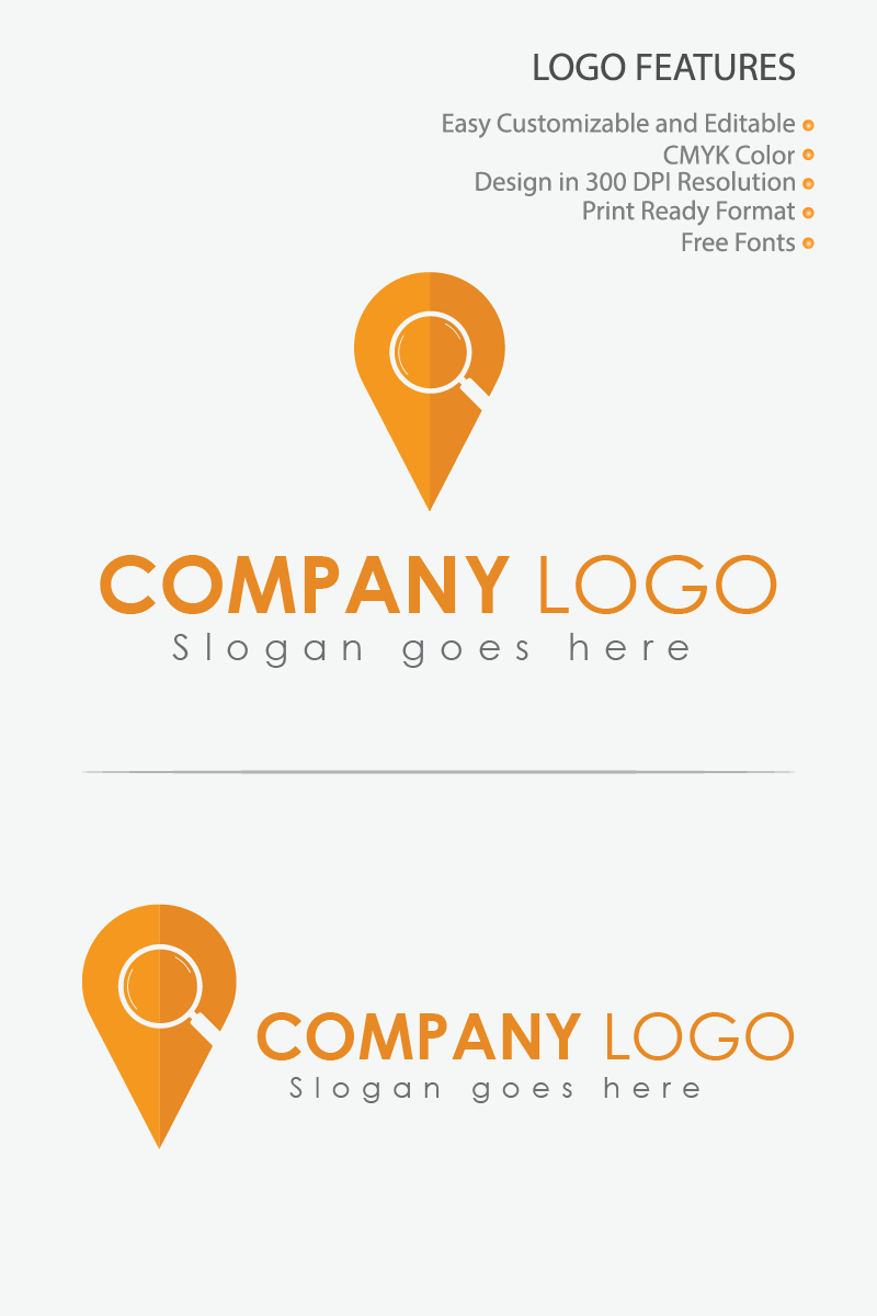 Location Search Logo Template