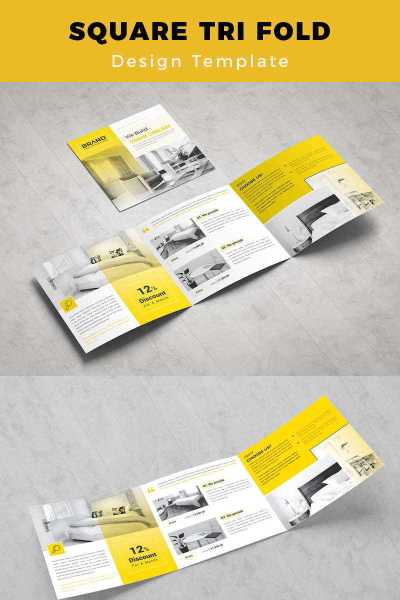Ramsele Medical Square Trifold Brochure Corporate Identity Template