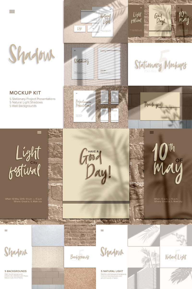 Realistic Shadow Product Mockup 86590