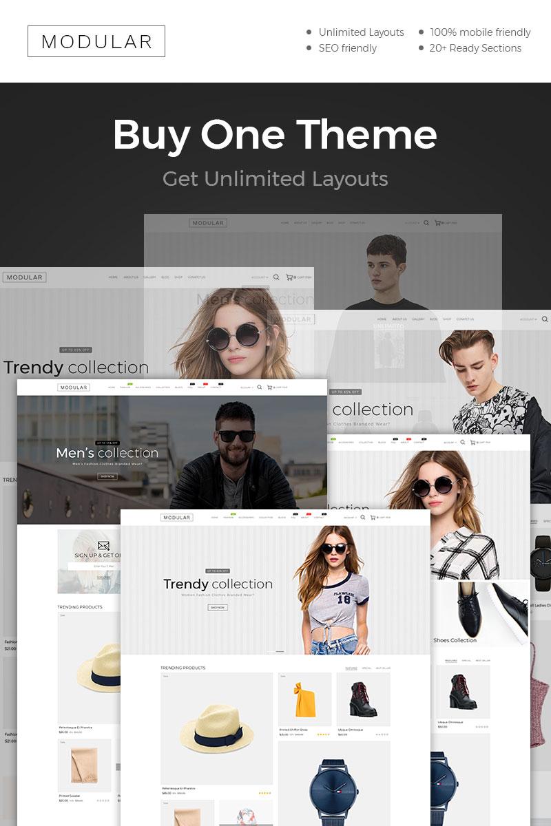 Responsywny szablon Shopify Modular Fashion #86583 - zrzut ekranu