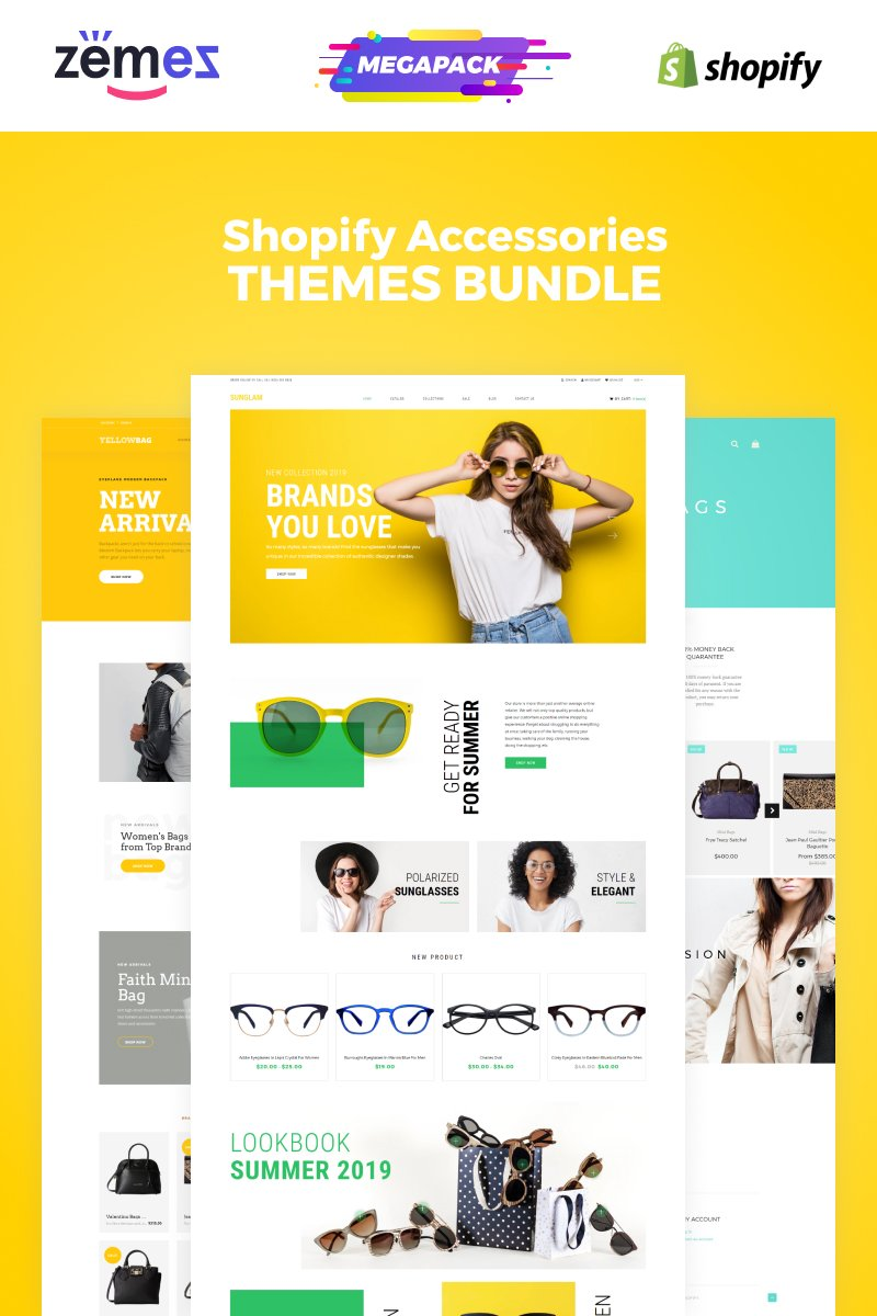 "Shopify Theme namens ""Accessories Bundle"" #86592"