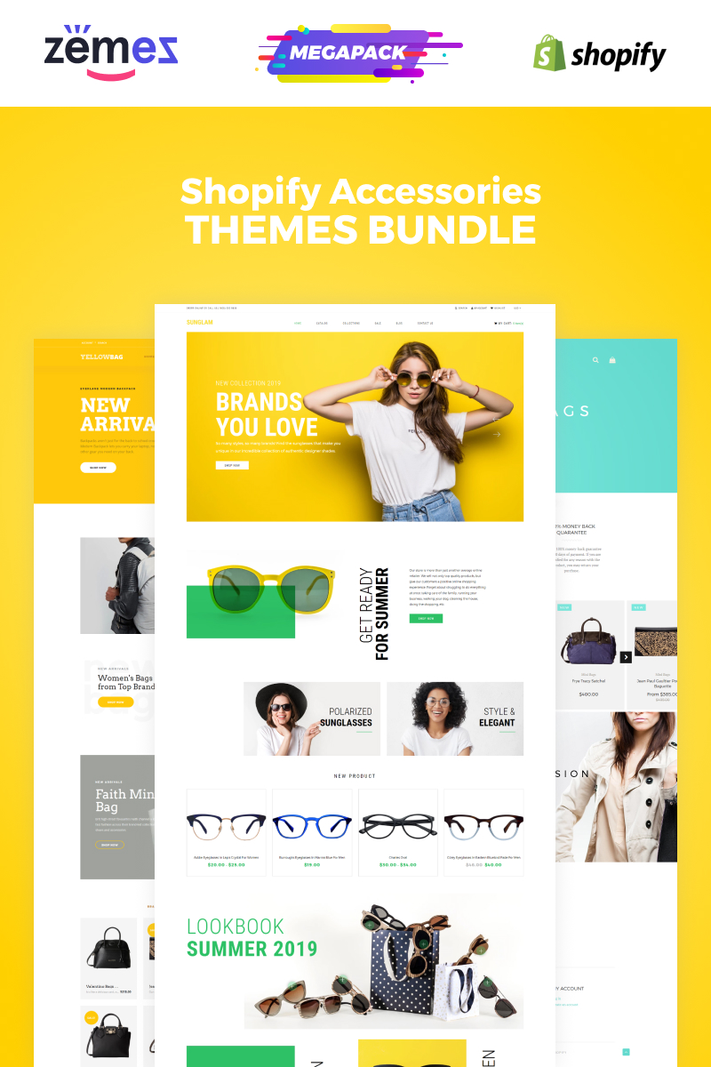 "Tema Shopify ""Accessories Bundle"" #86592"