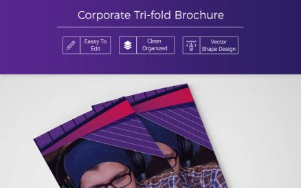Bikava Abstract Tri-fold Brochure Corporate Identity