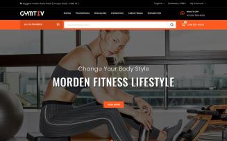 Gymtiv - Fitness Store PrestaShop Theme