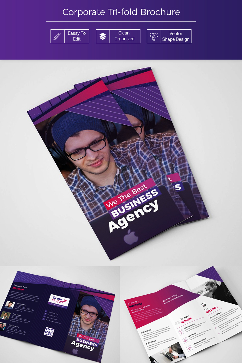 Bikava Abstract Tri-fold Brochure Corporate Identity Template - screenshot