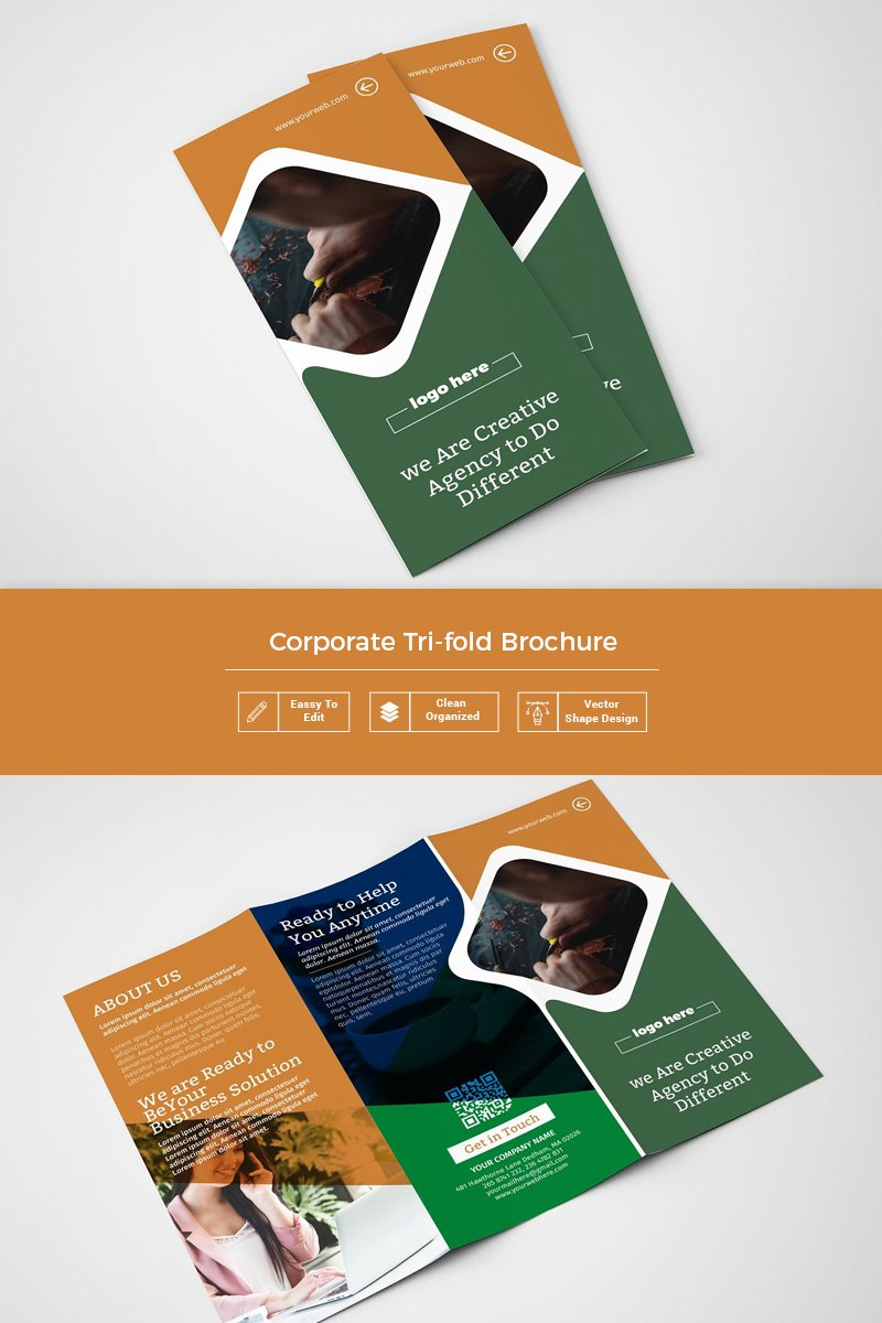 Brogui Tri-Fold Brochure Corporate Identity Template